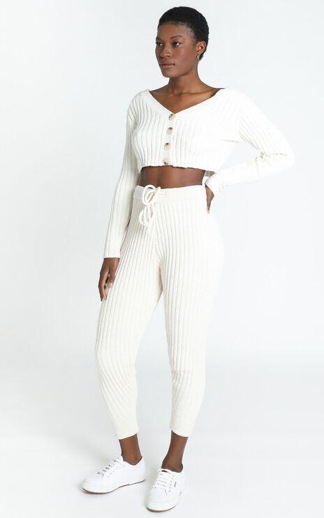 Becka Knit Cardigan in Cream