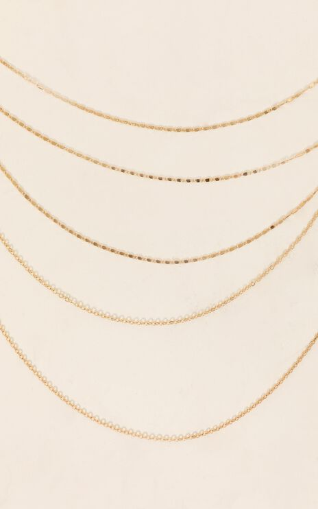 Shoulda Known Better Layered Necklace in Gold