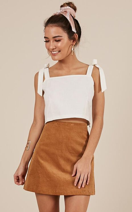 Melt My Heart Top In White