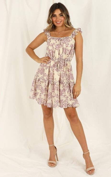 Nothing Tricky Dress in cream Floral