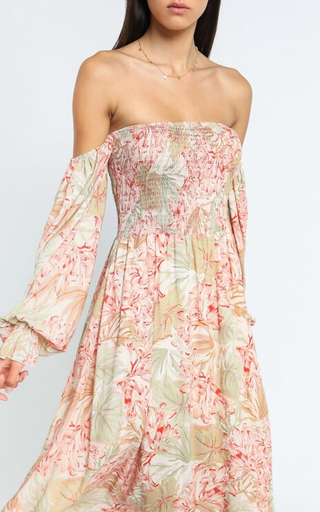 Laure Dress in Palm Print