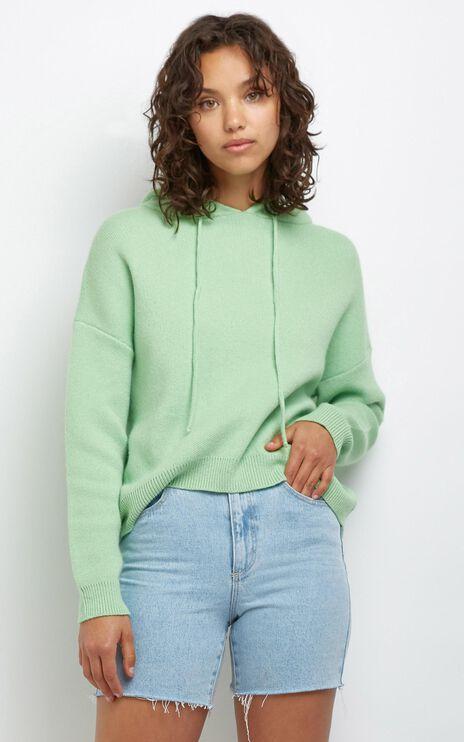 Cosy Club Knit Hoody in Mint