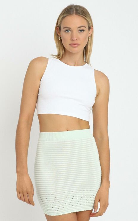 Dupont Knitted Skirt in Sage