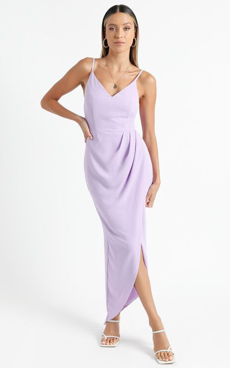Lucky Day Maxi Dress in Lilac