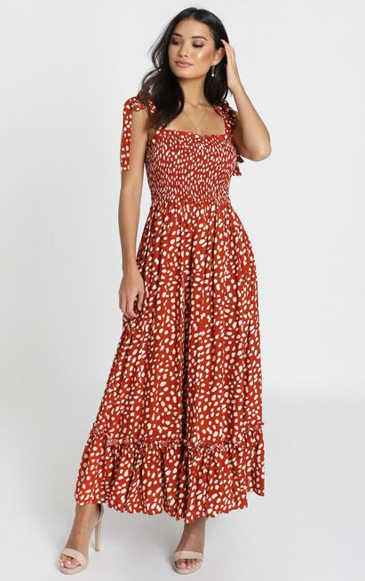 Miranda Dress in red print - 12 (L), Red, hi-res image number null
