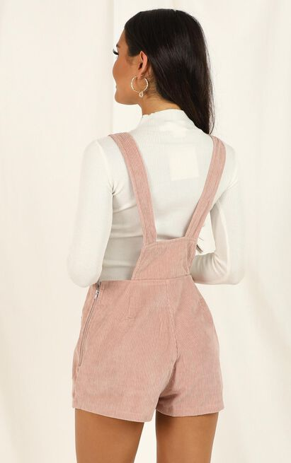 Likely Story Overall In Blush Cord - 16 (XXL), Blush, hi-res image number null
