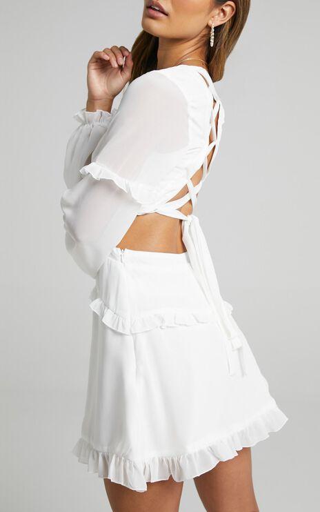 Wait On The Dance Floor Dress in White