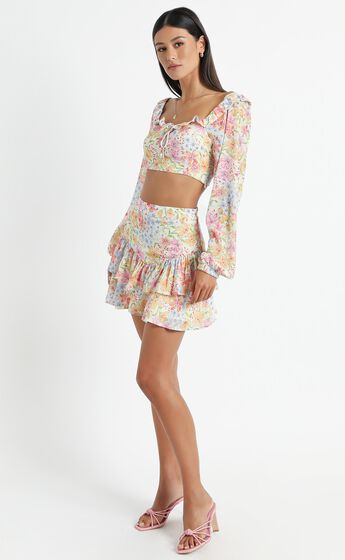 Hawi Two Piece Set in Multi Floral