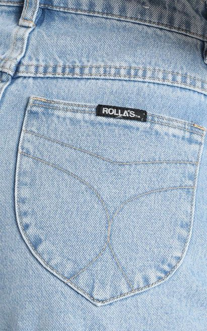 Rollas X Sofia Richie - Dusters Denim Short In Sunday Blue - 14 (XL), Blue, hi-res image number null