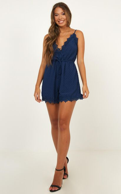 Almost Home Playsuit in navy - 12 (L), Navy, hi-res image number null