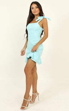 Coastal Getaway Dress In Blue