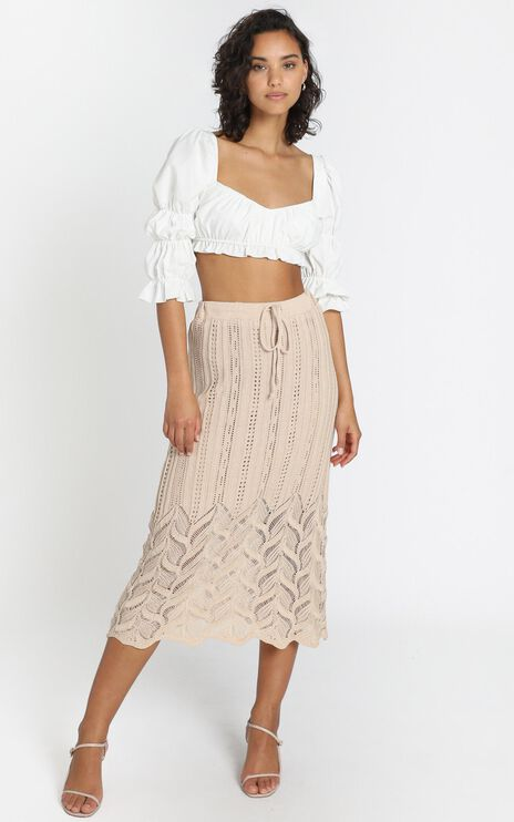 Shakira Skirt in Beige