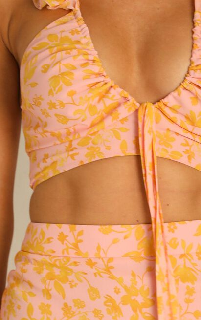 Street Credibility two piece set in pink floral - 20 (XXXXL), Pink, hi-res image number null