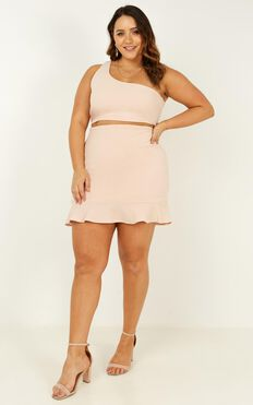 Throw Your Hands Up Two Piece Set In Blush