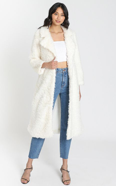 Ashley Coat in Off White