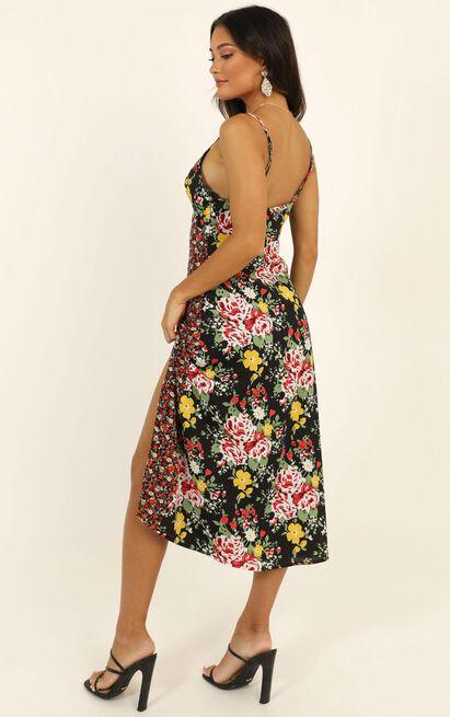 Spice Market Dress in black floral - 4 (XXS), Black, hi-res image number null