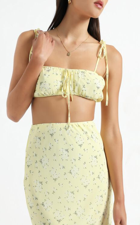 Bodhi Two Piece set in Yellow Floral