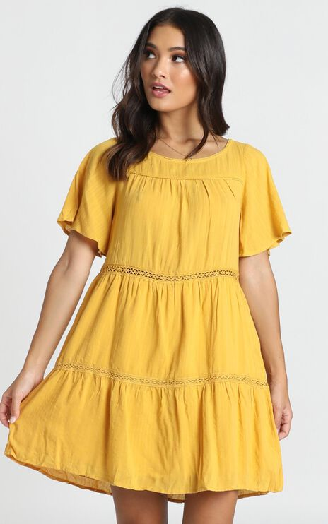 Brynn Dress In Mustard