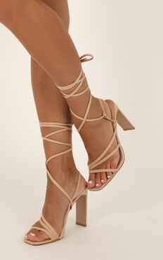 Billini - Dekker Heels In Blush Micro