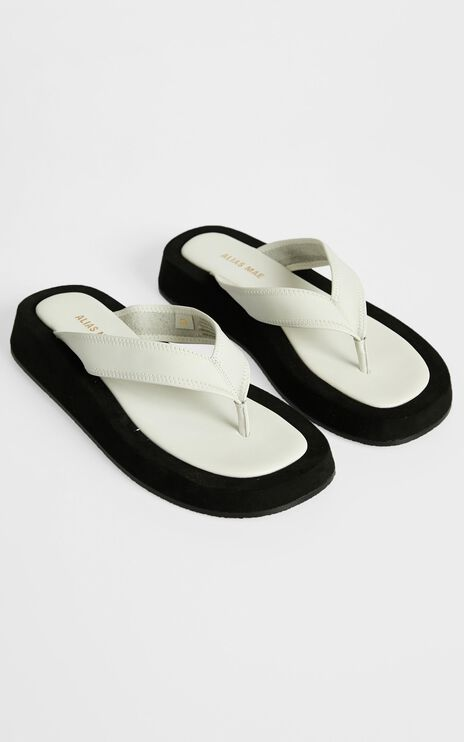 Alias Mae - Poppy Sandals in Ivory Leather