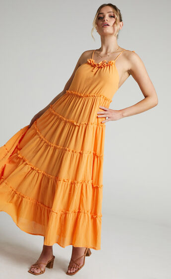 Charlie Holiday - Senorita Maxi Dress in Apricot