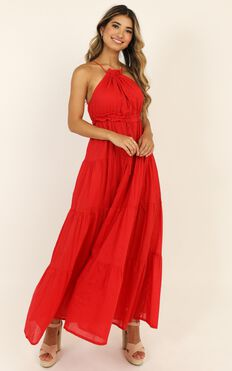 True Confidence Dress In Red