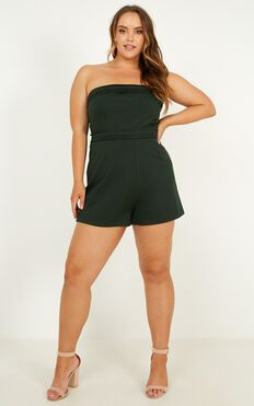Sneaking In Playsuit In Emerald