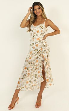 Choosing To Believe Dress In White Floral