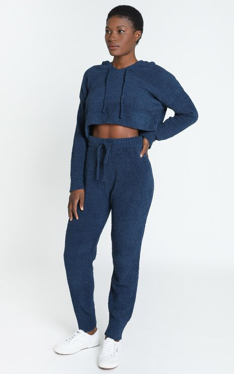 Adelie Super Soft Knit Hoody in Navy