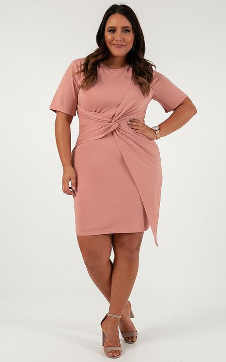 This Means Business Knot Dress In Blush