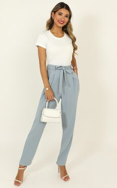 Born To Succeed Pants In Powder Blue