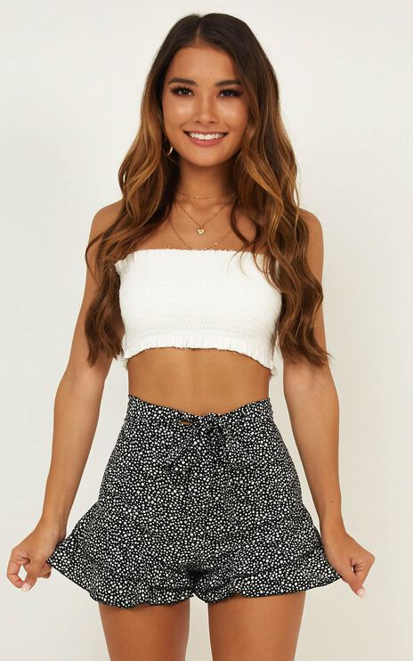 Here To Dance Shorts In Black Print