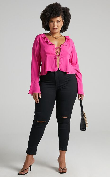 Dillie Top in Hot Pink