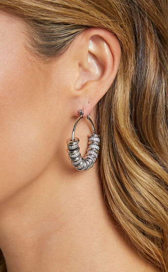 Luv AJ - Pave Washer Hoops in Silver