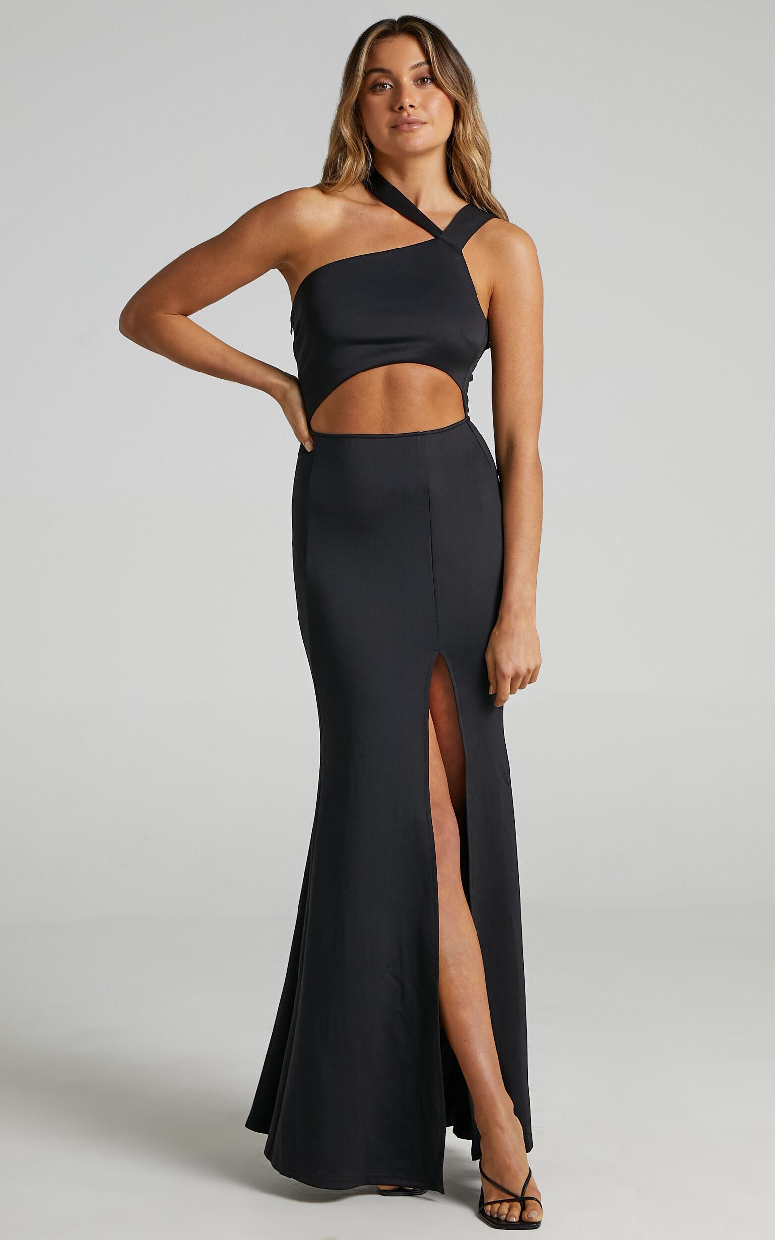 Mora One Shoulder Maxi Dress in Black - 04, BLK1, super-hi-res image number null