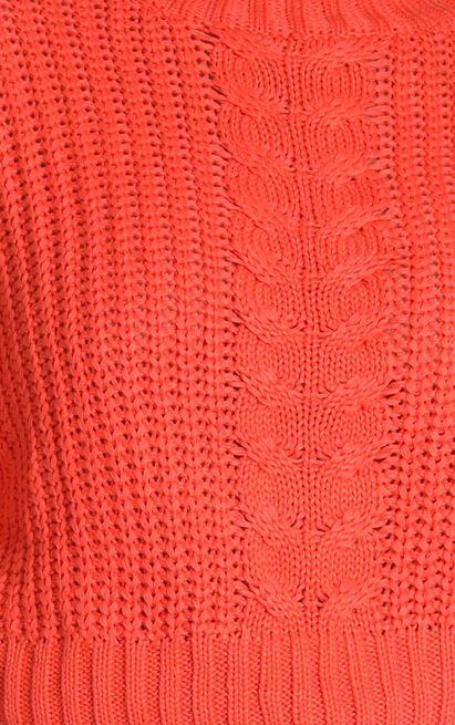 Hug Me Knitted Jumper in orange - S/M, Orange, hi-res image number null