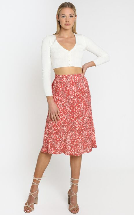 Alegra Skirt in Orange
