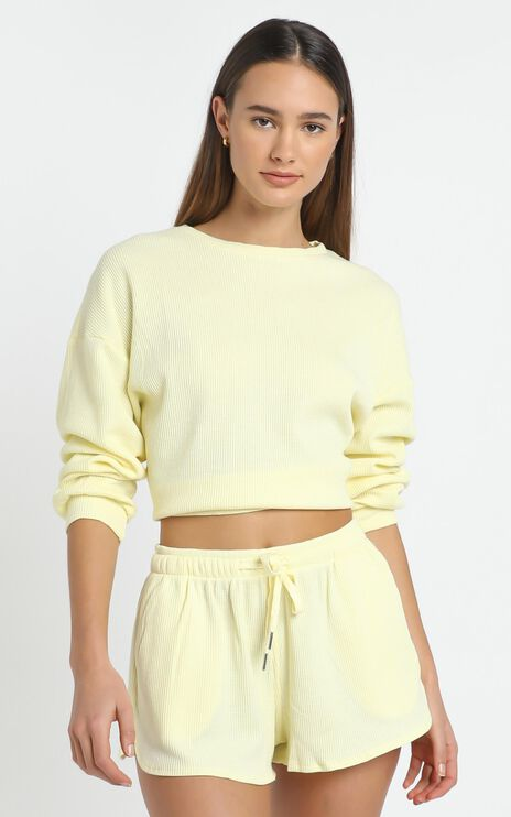 Millie Two Piece Set in Pastel Yellow
