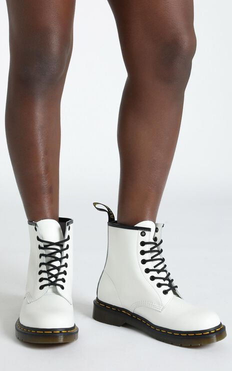 Dr. Martens - 1460 8 Eye Boot in White Smooth