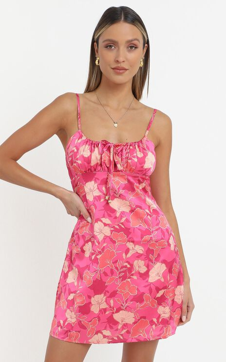 Ive Got You Now Dress in Berry Floral