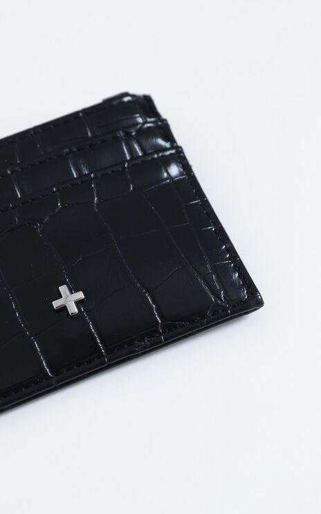 Peta and Jain - Ivy Card Holder in Black Croc