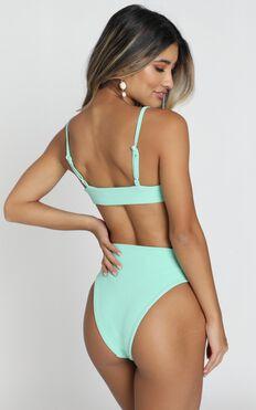 Zoe Bikini Set In Turquoise