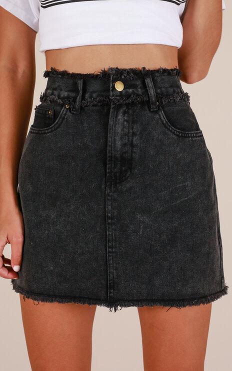 No Stopping Us Denim Skirt In Black