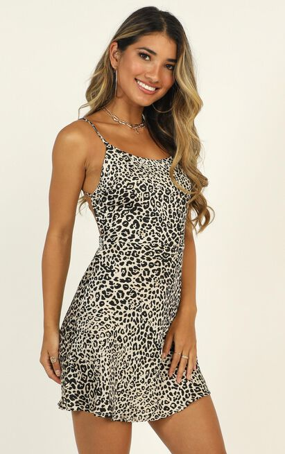 Give Me A Roar dress in leopard print - 16 (XXL), Brown, hi-res image number null