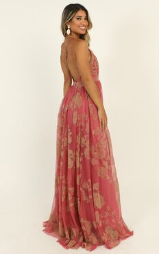 Lifes A Breeze Maxi Dress In Coral Floral