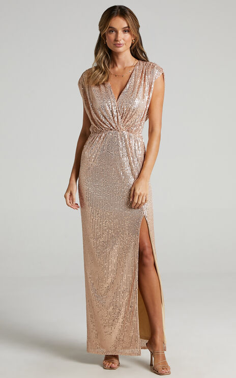 Remember The Day Dress in Rose Gold Sequin