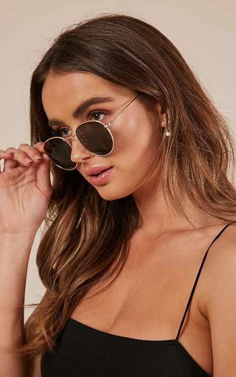 Retrograde Sunglasses In Gold And Black