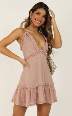 Out Of The Stars Dress In Dusty Rose