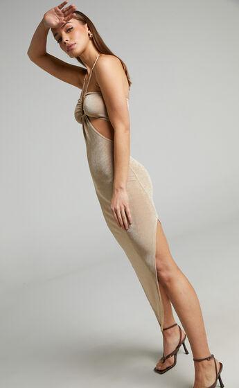 Runaway The Label - Jodi Midi Dress in Gold