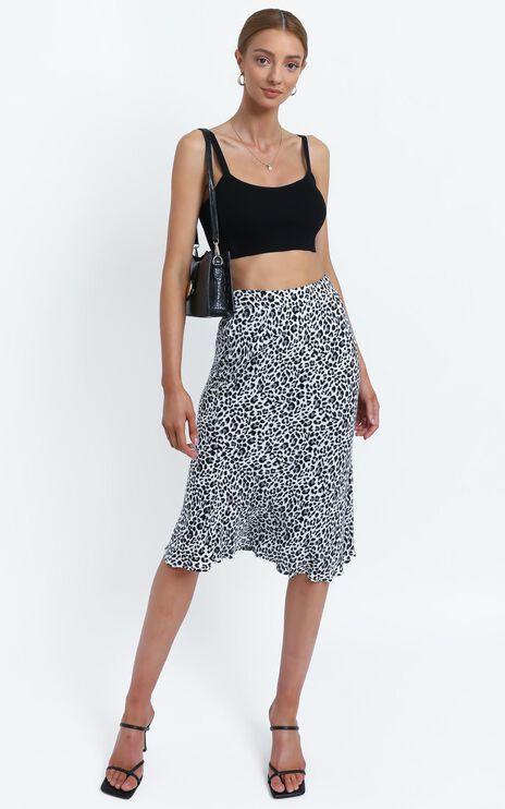 Savion Skirt in Black Leopard